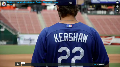 FCA in TogetherLA | Dodgers' Clayton Kershaw Return To Mound Includes His Best For God andFans